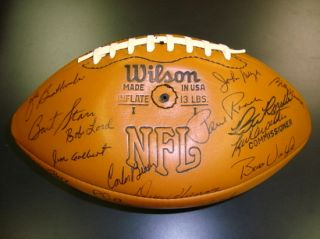 MINT 1975 Green Bay Packers Team Signed Football w/Bart Starr