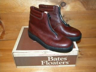 1970s Mens Bates Floaters Insulated Shoes Boots Sz 8EW Deadstock Made