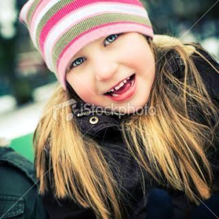 stock photo 11034394 cute little girl outdoors