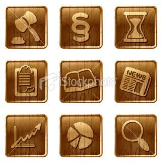 glossy wooden icons vol 11 Royalty Free Stock Vector Art Illustration