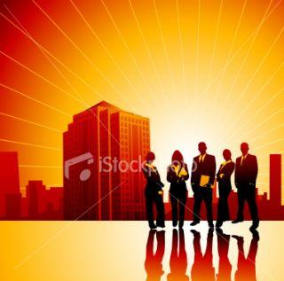 Affaires, Silhouette, Personne, Communication, Femmes  Stock