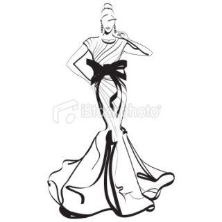 Sect de la mode, Mannequin, Femmes, Élégance, Croquis  Stock
