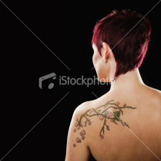 Tatouage, Femmes, Chouette, Cheveux, Vue de dos  Stock Photo  iStock
