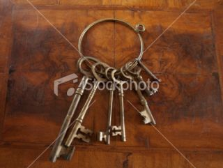 stock photo 12963360 antique skeleton keyes