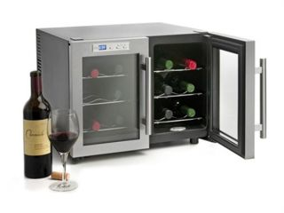 aficionado 12 bottle stainless steel wine cellar