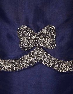 Imagen 3 de Vestido de corte recto con lazo adornado de ASOS