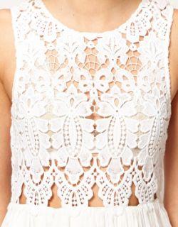 Imagen 3 de Vestido de seda de algodón con corpiño calado Anais de