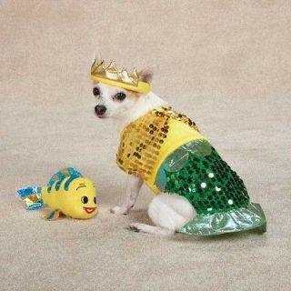 Dog FURRMAID Sea Mermaid Halloween Costume Flounder Pet Clothes XS, S