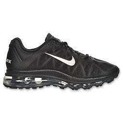 Nike Womens Air Max Max+ 2011 Black Metallic Silver Running Stealth