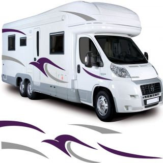 Motorhome Vinyl Graphics/Stickers Set (Decals, Camper Van RV Caravan
