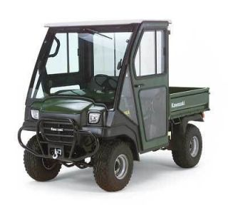 kawasaki mule 3000 3010 cab door windshield green hard doors