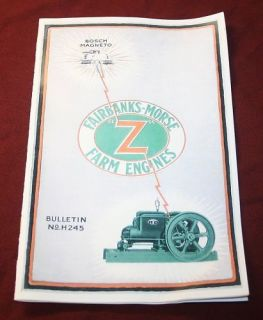 Fairbanks Morse Z Gas Engine Manual Book Hit Miss