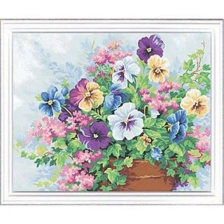 potted pansies paint by number kit time left $ 7
