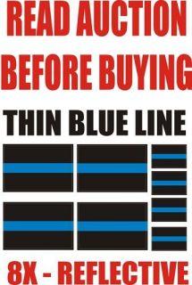 reflective thin blue line fop law enforcement decal time