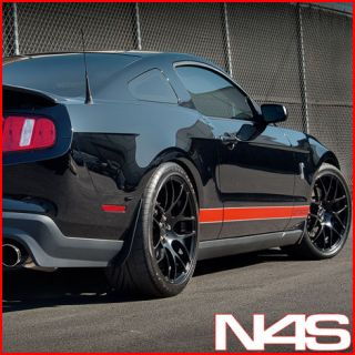 20 FORD MUSTANG SHELBY GT500 CONCAVE MATTE BLACK STAGGERED WHEELS