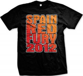 Spain Red Fury 2012 Mens T Shirt Espana Euro Futbol Soccer Team Pride
