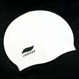 Silicone Swimming Cap Swim Gear Comfort NEW PLAIN WHITE Water Sports