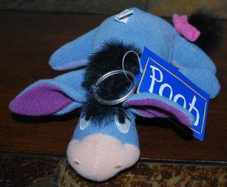 Winnie the Pooh Eeyore Donkey Disney Plush Keychain Change Purse 6