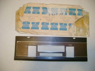 NOS MOPAR 1969 PLYMOUTH GTX, DODGE CORONET 500 AM, AM/FM RADIO BEZEL
