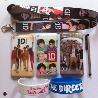 One Direction iPod touch 1D 4 4th Gen case,PLUS Stylus&2 Wrist Bands
