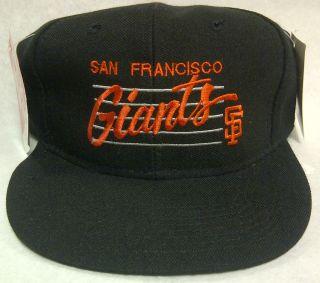 SAN FRANCISCO GIANTS VINTAGE PIONEER INDUSTRIES FLAT BILL SNAPBACK CAP