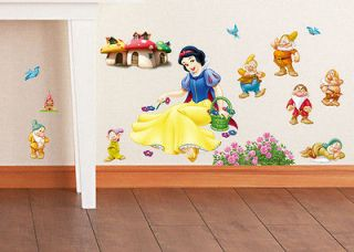 Disney Snow White and the Seven Dwarfs Wall Sticker Decal Removable