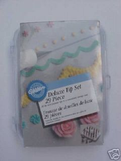 wilton cake decorating deluxe tip set 28 piece kit new