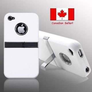 Newly listed Deluxe White Hard Case Cover With Chrome Stand for Apple