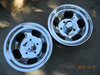 JUST POLISHED 15x7 INDY SLOT MAG WHEELS FORD TRUCK GASSER JEEP DRAG