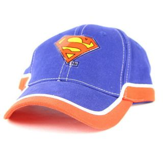 Classic Superman logo design velcro closure adult size baseball Hat