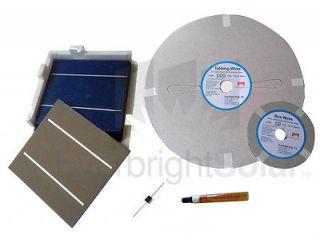 1KW Grade A Multi 6x6 Solar Cells DIY Solar Panel Kit w/Wire Flux