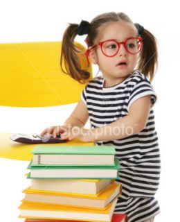 stock photo 5162885 little girl with books