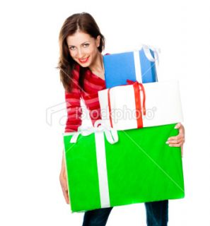 stock photo 18825912 cute young girl with a gift