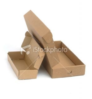 Two opened cardboard boxes  Stock Photo  iStock
