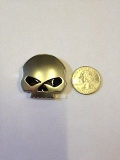 HARLEY DAVIDSON SKULL EMBLEM BADGE FROM WILLIE G FITS FAIRING TOUR