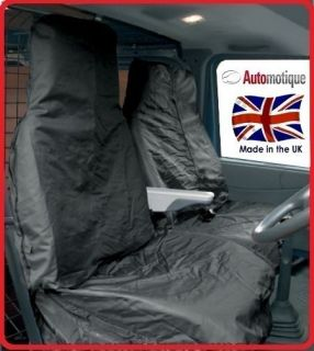 vw volkswagen transporter 2005 black van seat covers 2 time
