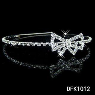 Wedding Bridal crystal Flower Girls tiara crown headband 1012