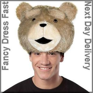 Adult Licensed Ted Teddy Bear Headpiece Fancy Dress Costume Mens