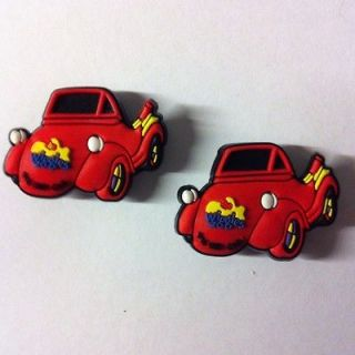 AWESOME THE WIGGLES BIG RED CAR SHOE CHARMS JIBBITZ FOR CROCS