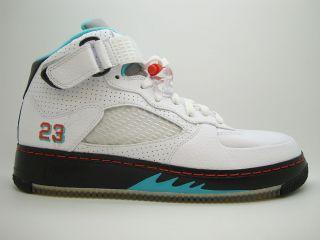 407334 101] Mens Air Jordan Force 5 White Spice Light Retro Black V