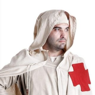 Templar Cloak with red cross Crusader knight costume heavy cotton