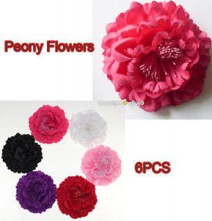Pcs 4.7 Hair Bow Peony Flower Clip Headband Hat Wedding Party