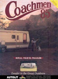 1985 coachmen royal travel trailer brochure  9