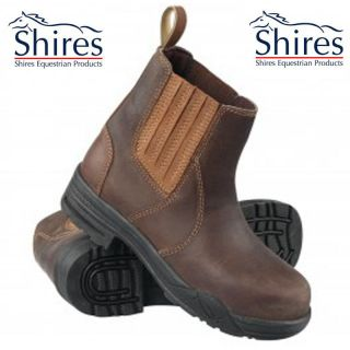 SHIRES EQUESTRIAN HORSE RIDING YARD BROWN LEATHER JODHPUR BOOTS SIZE