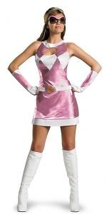 Adult Deluxe Power Ranger Pink Ranger Halloween Costume Dress Up