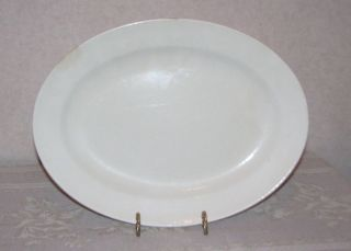 vintage edwin knowles white semi vitreous platter 45 6 time