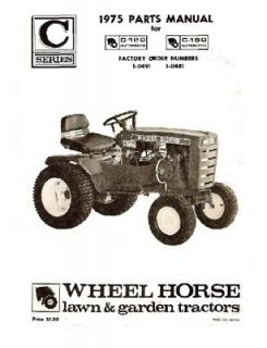 wheel horse tractor parts manual c 120 c 160 time