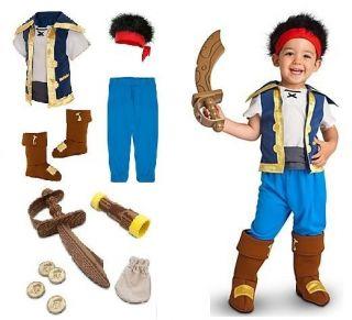 Jake & The Neverland Pirates Costume & Sword Set 2T/3T