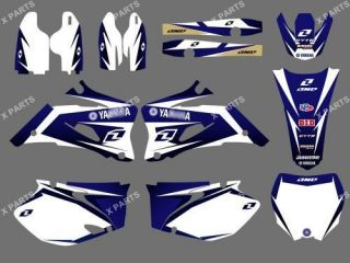 TEAM GRAPHICS&BACKGROUNDS DECALS STICKERS YAMAHA YZ250F YZ450F 2008