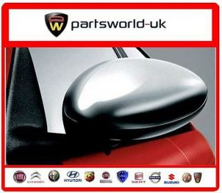genuine Alfa Romeo brushed alloy mirror covers / caps for the 147 & GT